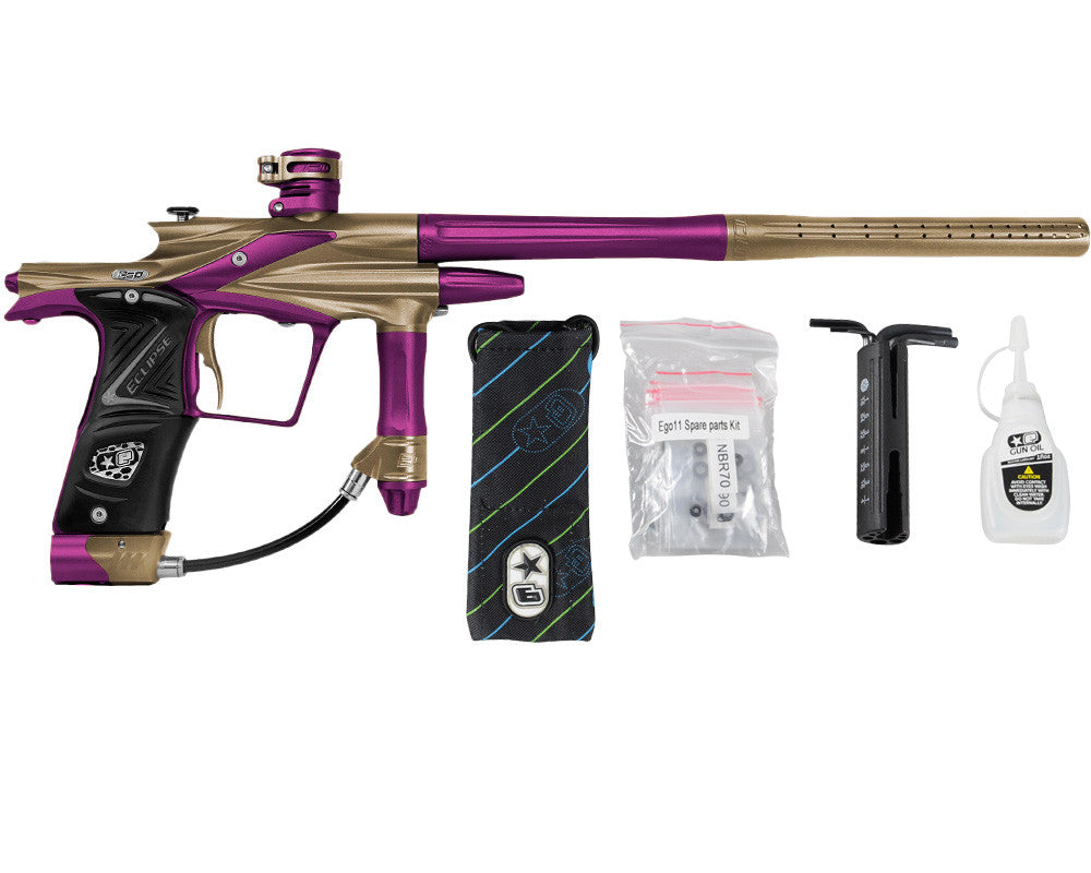 Planet Eclipse 2011 Ego Paintball Gun - Tan/Electric Purple