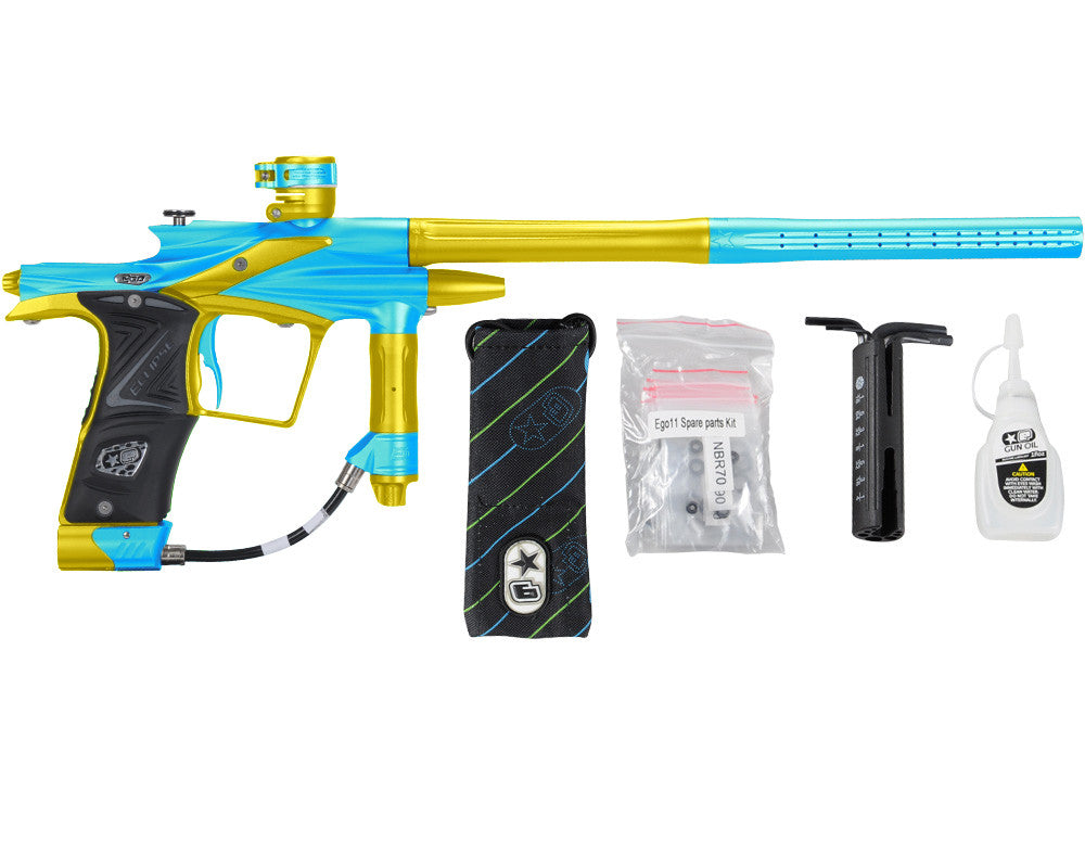 Planet Eclipse 2011 Ego Paintball Gun - Teal/Dust Yellow