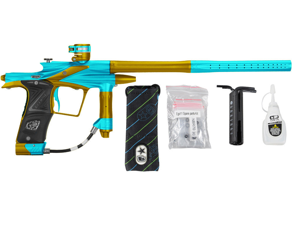 Planet Eclipse 2011 Ego Paintball Gun - Teal/Gold