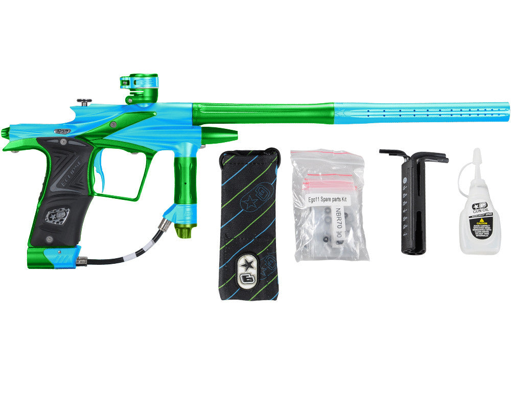Planet Eclipse 2011 Ego Paintball Gun - Teal/Lime