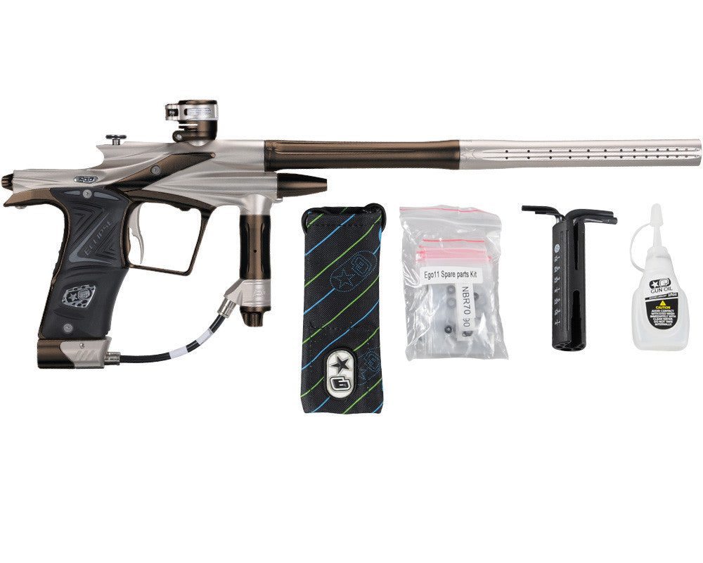 Planet Eclipse 2011 Ego Paintball Gun - Titanium/Brown