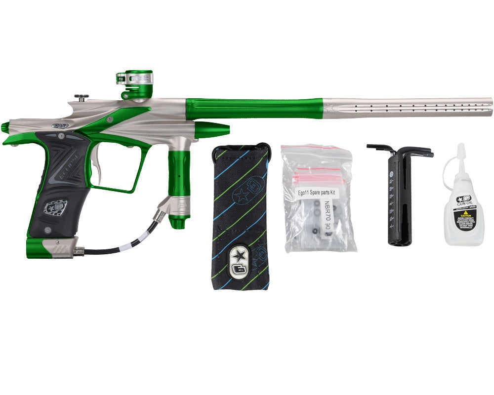 Planet Eclipse 2011 Ego Paintball Gun - Titanium/Lime