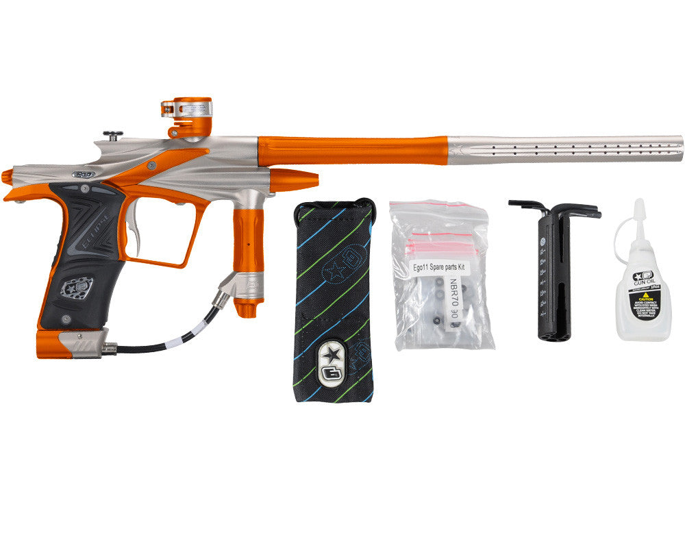 Planet Eclipse 2011 Ego Paintball Gun - Titanium/Sunburst Orange