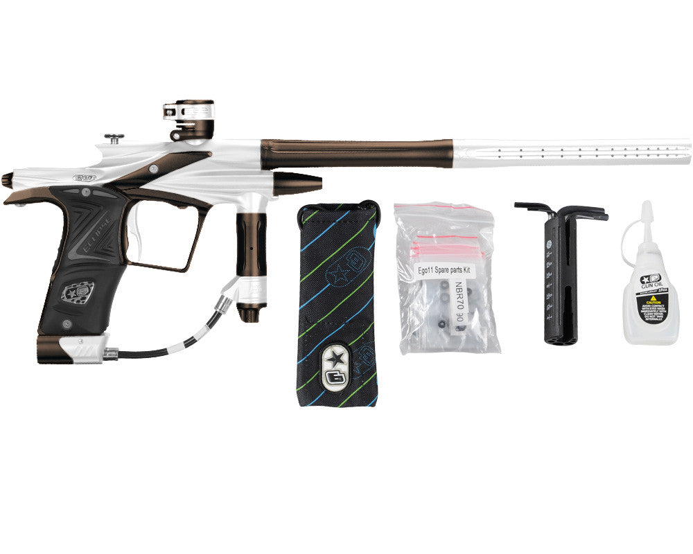 Planet Eclipse 2011 Ego Paintball Gun - White/Brown