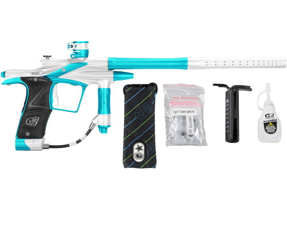 Planet Eclipse 2011 Ego Paintball Gun - White/Dust Teal