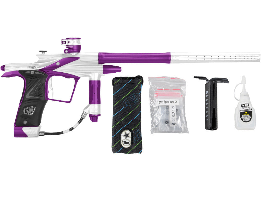 Planet Eclipse 2011 Ego Paintball Gun - White/Electric Purple