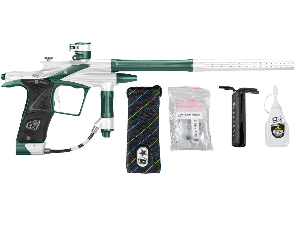 Planet Eclipse 2011 Ego Paintball Gun - White/Forest Green