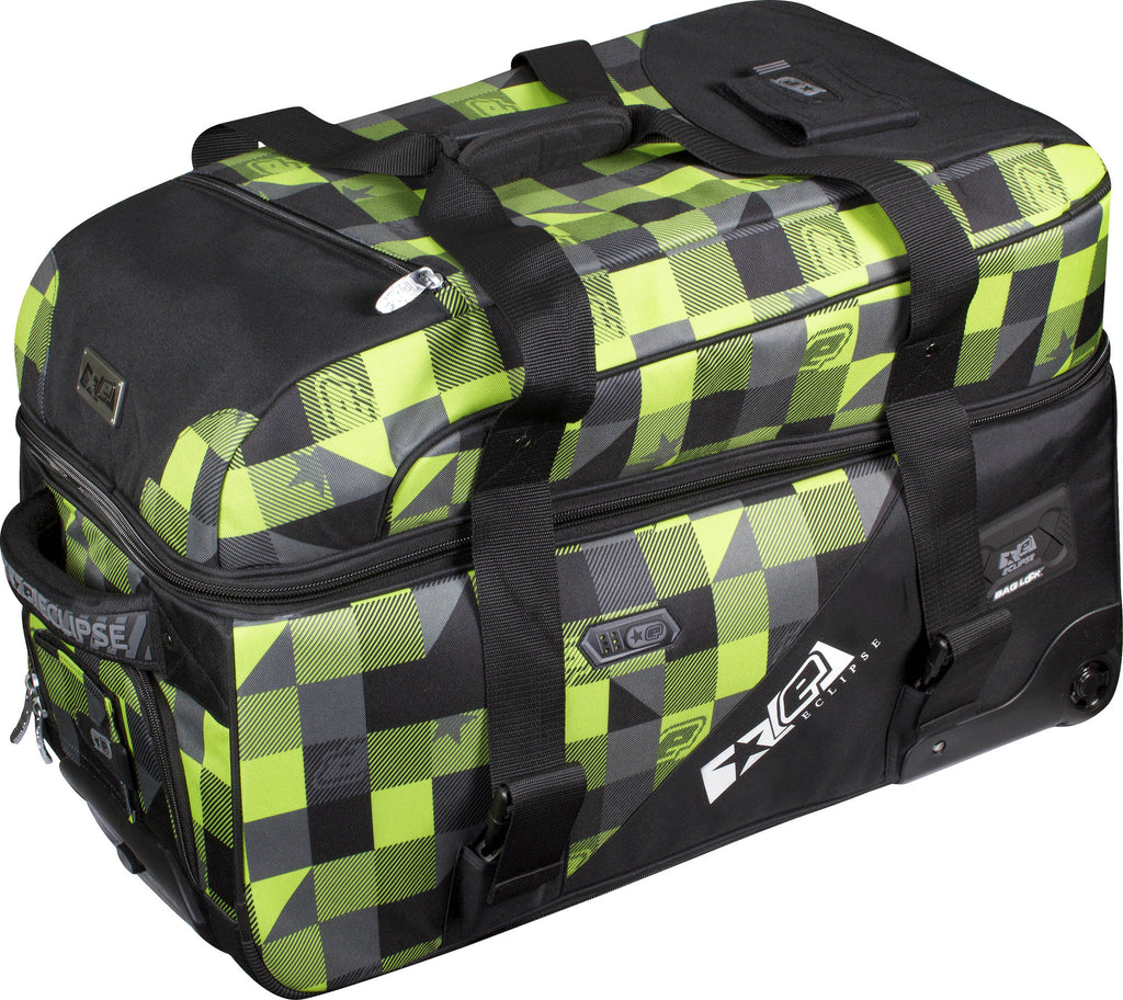 Planet Eclipse 2013 Split Compact Gear Bag - Plaid Lime