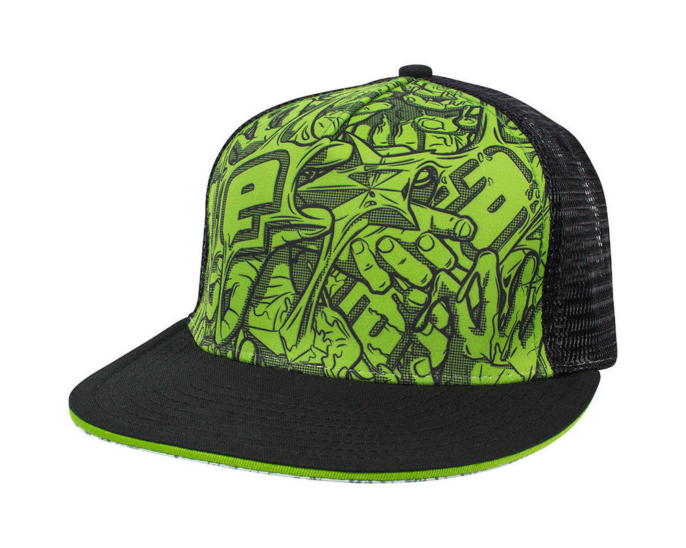 Planet Eclipse 2014 Stretch Cap - Black/Green