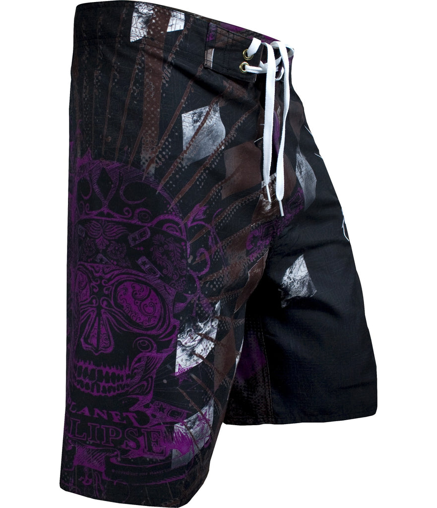 Planet Eclipse Men's 2010 Mayan Surf Shorts - Black