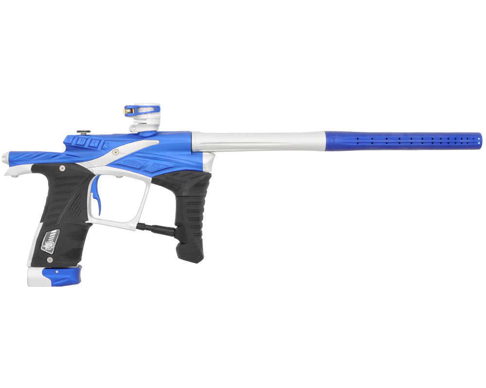 "Planet Eclipse Ego LV1 Paintball Gun - Dynasty ""Waffle"" Milled Edition - Blue/Silver"