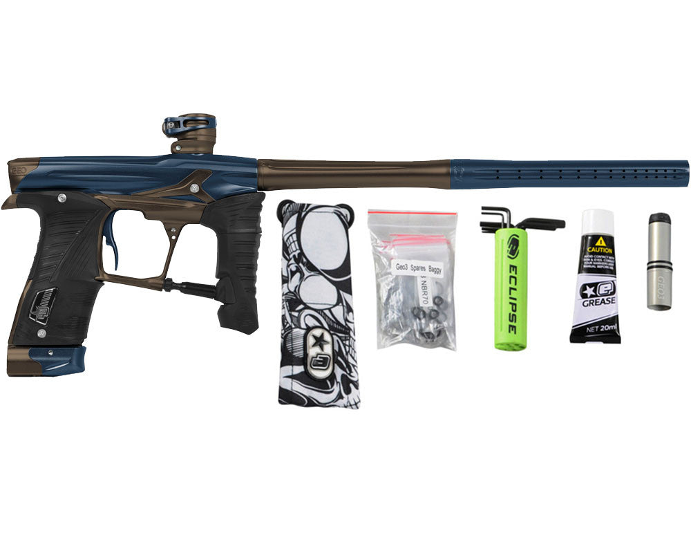 Planet Eclipse Geo 3.5 Paintball Gun - Navy Blue/Brown