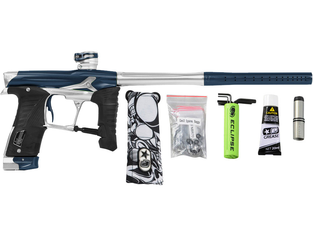 Planet Eclipse Geo 3.5 Paintball Gun - Navy Blue/Silver