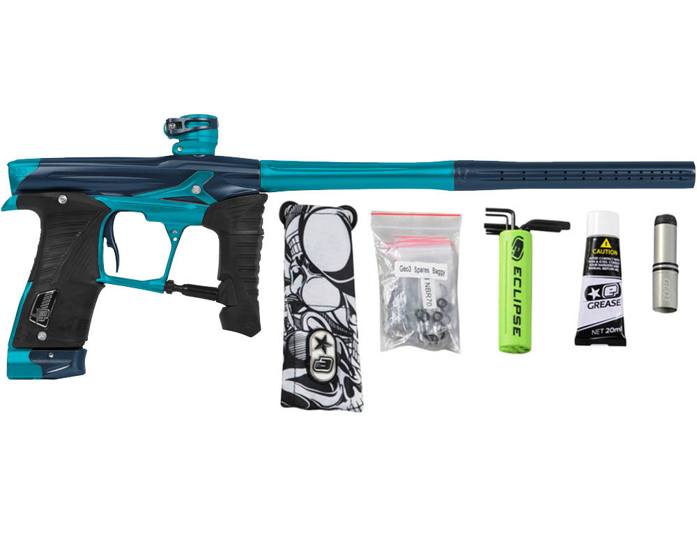 Planet Eclipse Geo 3.5 Paintball Gun - Navy Blue/Teal