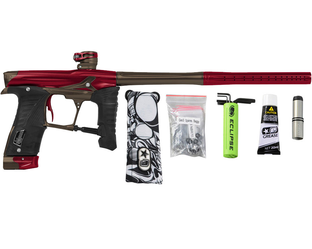 Planet Eclipse Geo 3.5 Paintball Gun - Red/Brown
