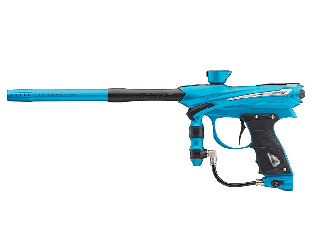 Proto Reflex Rail Paintball Gun - Cyan/Black