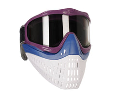 JT ProFlex Thermal Paintball Mask w/ Smoke Lens - Purple w/ Blue/White Bottoms