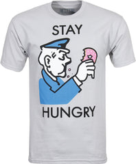 Real Stay Hungry S/S - Grey - Men's T-Shirt