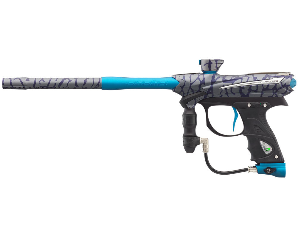Proto Reflex Rail Paintball Gun - PGA Skinned Cyan
