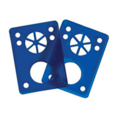 Riot Gear Riser Vibra Pads - Blue - 1/8in - Skateboard Riser (2 PC)