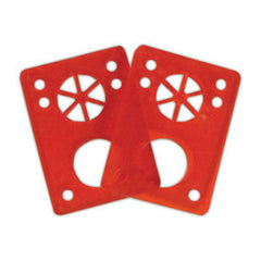 Riot Gear Riser Vibra Pads - Red - 1/8in - Skateboard Riser (2 PC)