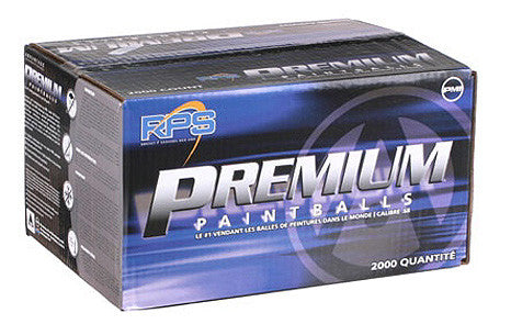 PMI Premium Paintballs Case 1000 Rounds - Orange/Silver - Orange fill