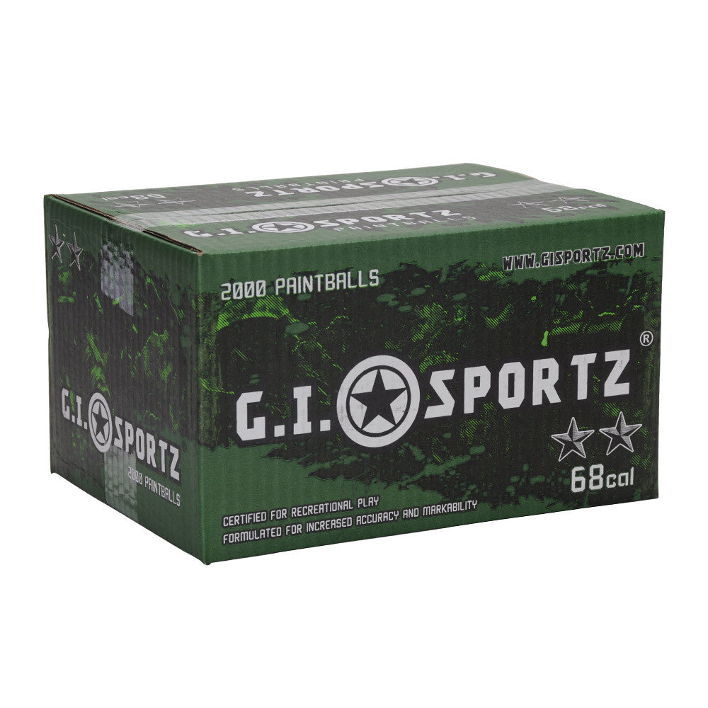 GI Sportz 2 Star Paintball Case 2000 Rounds - Yellow Fill