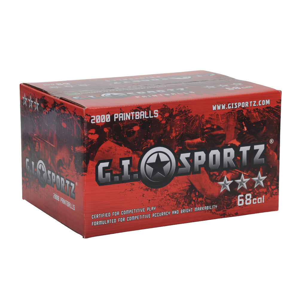 GI Sportz 3 Star Paintball Case 1000 Rounds - Orange Fill