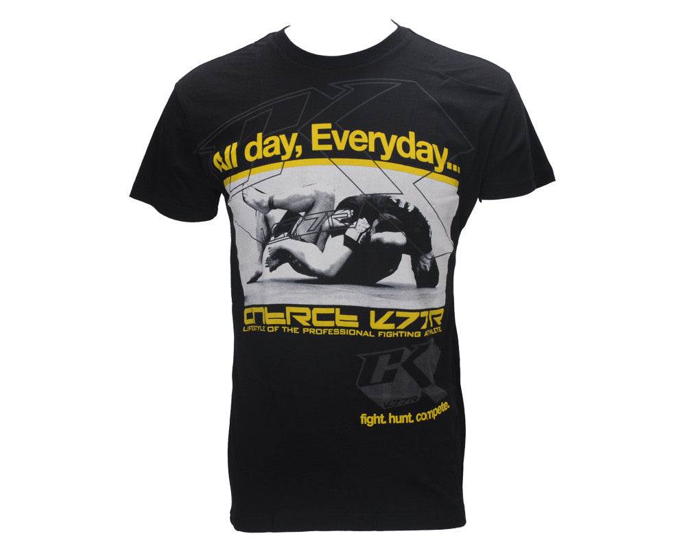 Contract Killer All Day T-Shirt - Black/Yellow