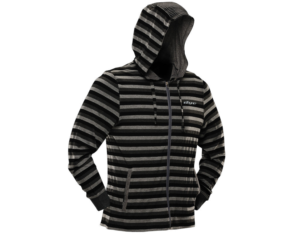 Dye 2012 Stripes Hooded Sweatshirt - Grey