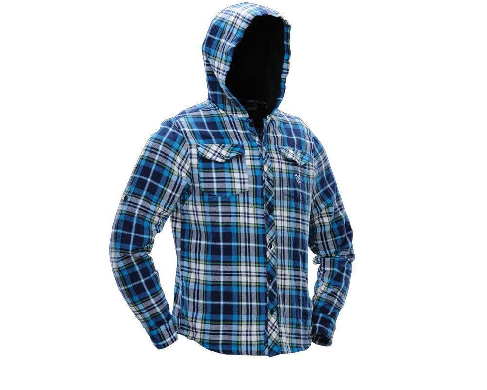 2012 Dye Lumberjack Hooded Flannel - Blue