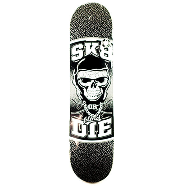 Blind Sk8 or Die SS - Black/White - 7.75 - Skateboard Deck