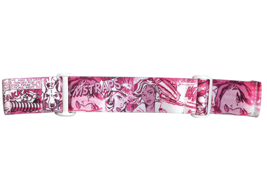 KM Paintball Goggle Strap - 09 Pink Comic