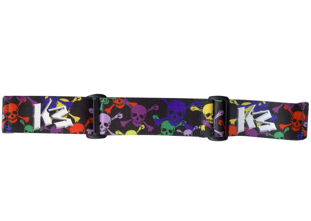KM Paintball Goggle Strap - 09 Black Skull Rave