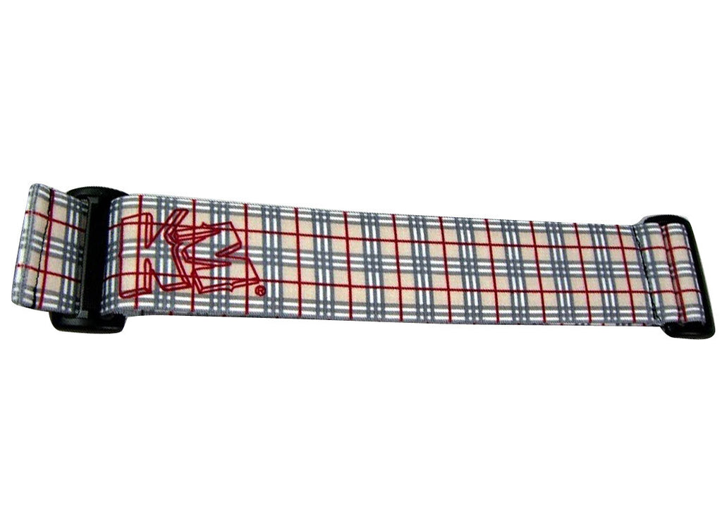 KM Paintball Goggle Strap - Plaid Grey