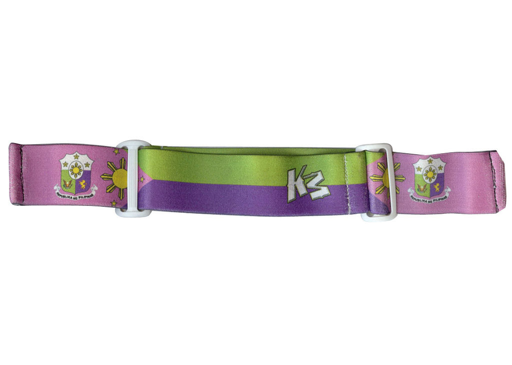 KM Paintball Goggle Strap - 09 Filipino Purple, Pink, & Green