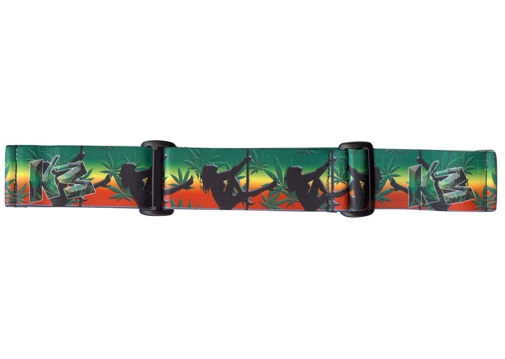 KM Paintball Goggle Strap - 09 Rasta Stripper