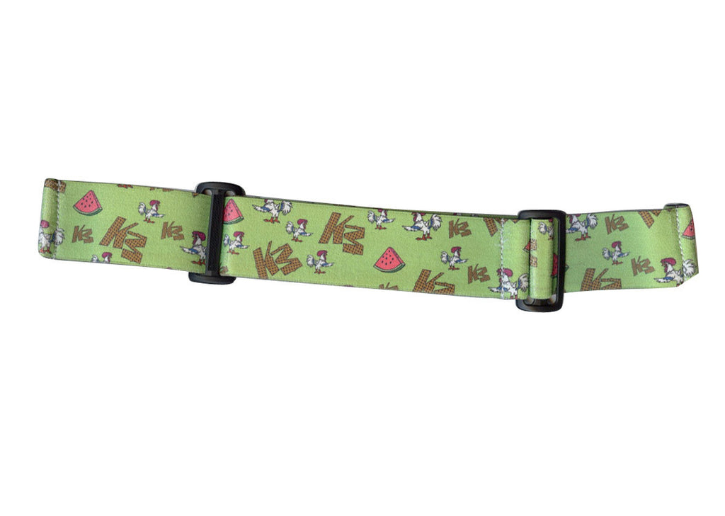 KM Paintball Goggle Strap - 09 Chicken, Watermelon & Waffles - Green