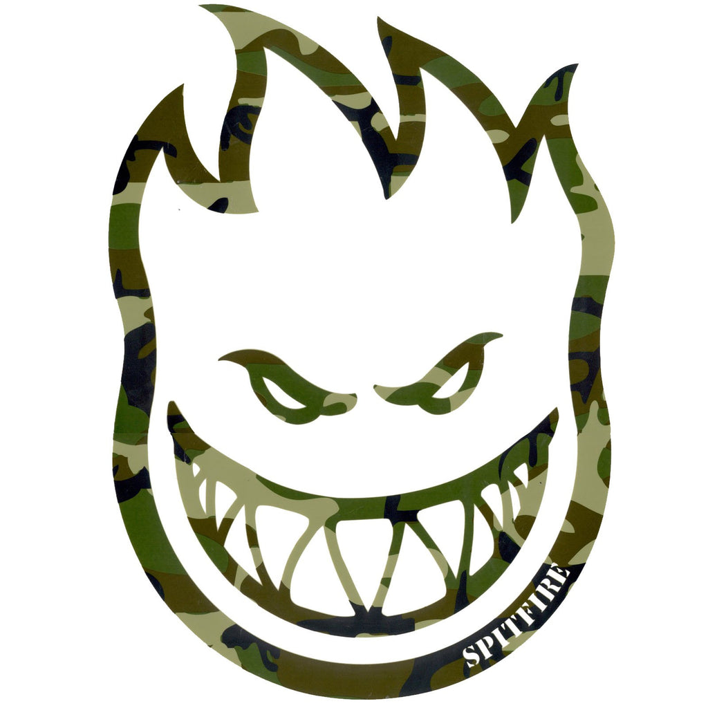 Spitfire Bighead Camo Green Large - Sticker