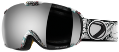 Dye T1 Steamboat Snowboard Goggles w/ Additional Lens - Smoke Silver Polarized