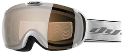 Dye T1 White Snowboard Goggles - Orange Silver
