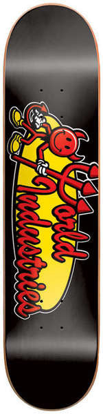 World Industries Corporate Team Logo - Black - 7.5 - Skateboard Deck