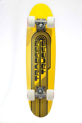 Tracker Classic Wing Cruiser - Yellow - 7.5in x 29in - Complete Skateboard