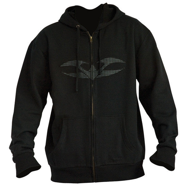 2011 Valken Ensign Zip Up Hooded Sweatshirt - Black