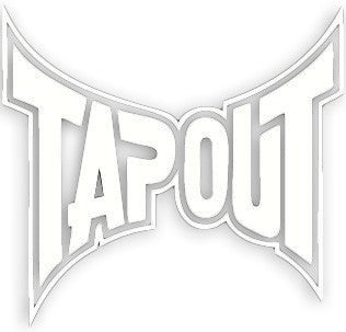 Tapout Logo Sticker - White