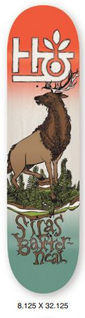 Habitat Terrene Silas Baxter - Red/Brown/Green - 8.125 - Skateboard Deck