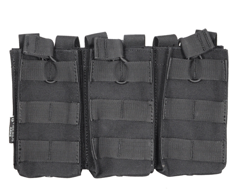 Tiberius Arms EXO M4 Mag Triple Pouch - Black
