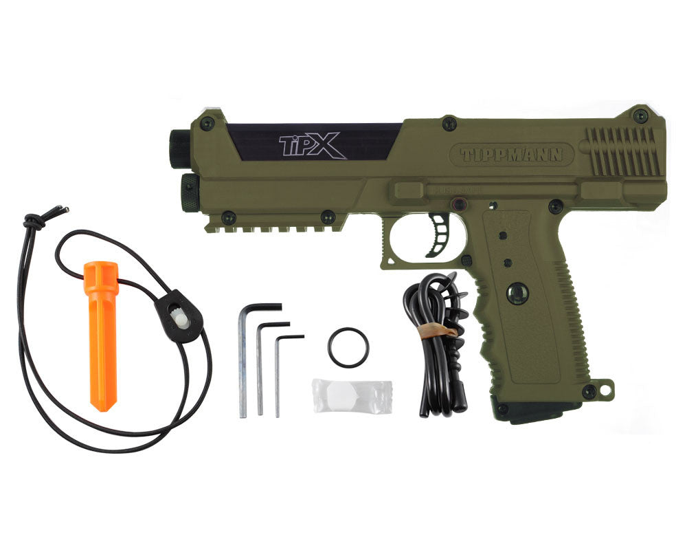 Tippmann TiPX Trufeed Deluxe Pistol Kit - Coyote Brown/Black