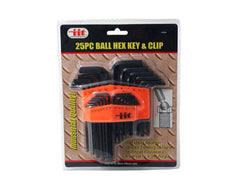 25-Pc. Ball Hex Keys & Clip