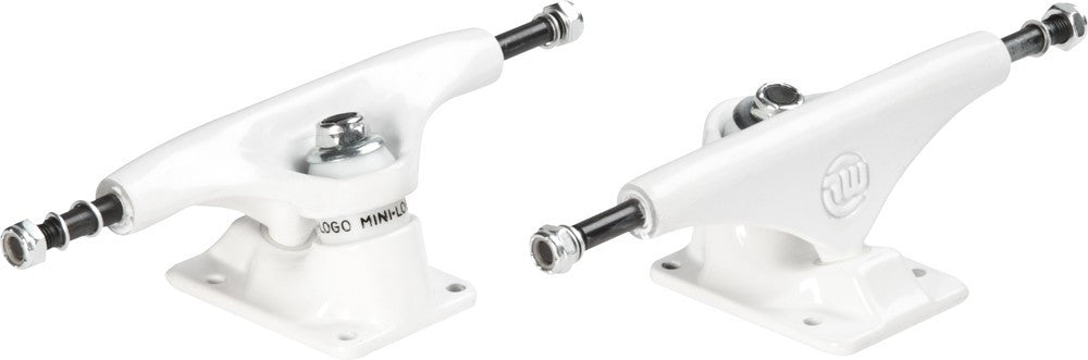 Mini Logo - White/White - 8.0in - Skateboard Trucks (Set of 2)